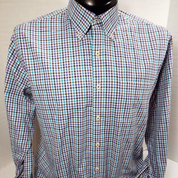 10219a649ae Peter Millar Men s Button Down Long Sleeve Shirt L.  M 5b5f9b5b04e33d8fc73e9f83